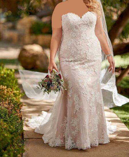 مدل لباس عروس خانم های درشت اندام,جدیدترین مدل لباس عروس برای افراد چاق,تصاویری از مدل لباس عروس