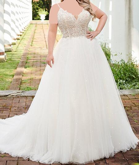 لباس عروس برای افراد چاق, لباس عروس خانم های چاق, مدل لباس عروس برای خانم های چاق