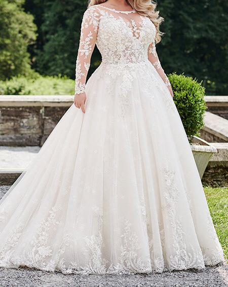 شیک ترین مدل لباس عروس برای افراد چاق, جدیدترین مدل لباس عروس برای افراد چاق, ایده هایی برای لباس عروس خانم های چاق