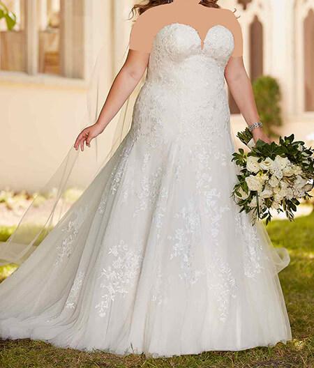 ایده لباس عروس برای افراد چاق, لباس عروس خانم های درشت اندام, مدل لباس عروس خانم های درشت اندام