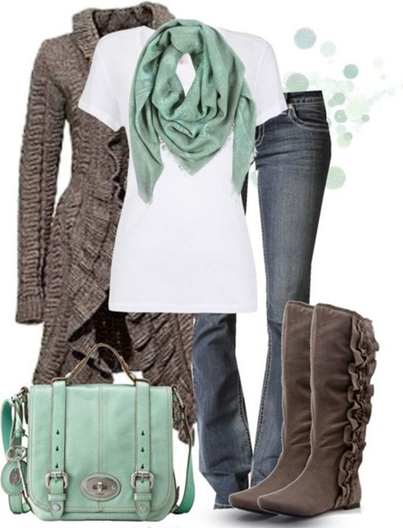 ایده هایی برای ست های زمستانی, مدل ست کردن لباس های زمستانی