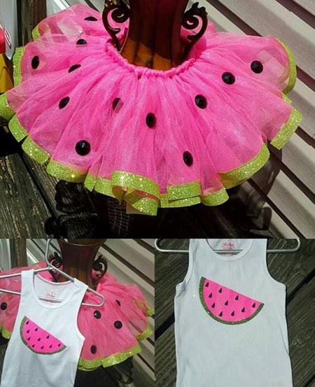 پیراهن به شکل هندوانه,مدل لباس شب یلدا