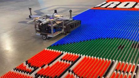 ربات رکوردشکن دومینو چین،اخبار اختراعات جدید،خبرهای اختراعات جدید