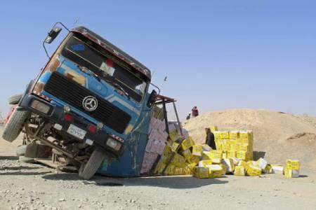عکسهای جالب,عکسهای جذاب,تصادف کامیون