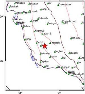 زلزله,زلزله در کاکی بوشهر,زلزله ۴.۹ ریشتر در کاکی بوشهر