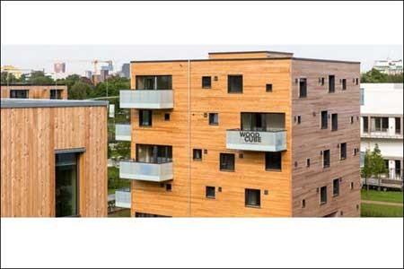 تصاویر یک آپارتمان چوبی با انتشار کربن صفر