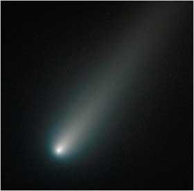 تصویر جدید تلسکوپ فضایی هابل, دنباله دارآیسان