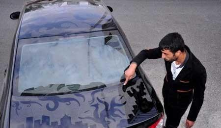 نقاشی روی ماشین های کثیف ...(معركه است)