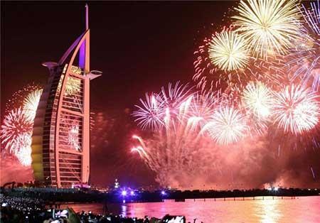 اخبار,اخبار گوناگون,نمایش آتش بازی بزرگ دبی به مناسبت سال 2014