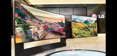 اخبار,اخبار تکنولوژی,محصولات برگزیده نمایشگاه CES2014,تصاویر تلویزیون 105 اینچی ال جی