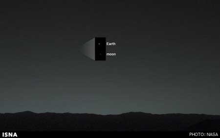 اخبار,اخبار علمی,ارسال نخستین تصویر از زمین,تصاویری از زمین از سطح سیاره مریخ