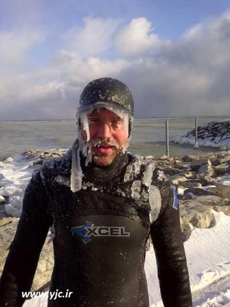 اخبار,اخبار گوناگون,تصاویر موج سواری در اوج سرما,ورزش موج سواری