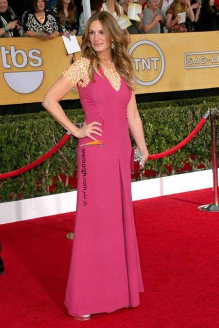 اخبار,اخبار فرهنگی,هنرمندان هالیوودی در مراسم SAG,پوشش Julia Roberts در مراسم SAG