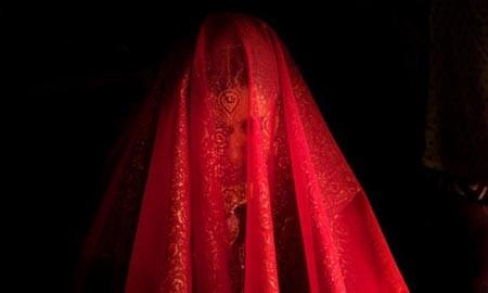 یک عروس در سرینگر کشمیر