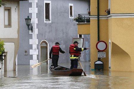 آب گرفتگی یک روستا در وین، اتریش
