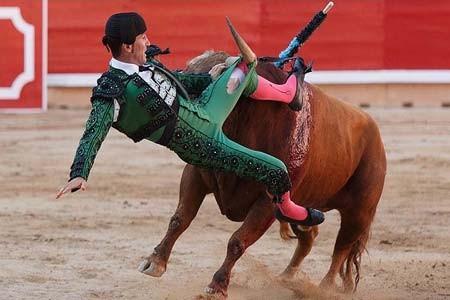 لحظه انتقام گاو- پامپلونا، اسپانیا