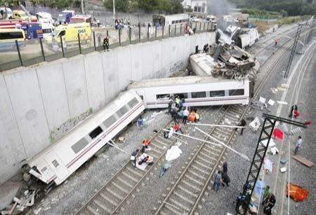 تصادف مرگبار قطار در اسپانیا