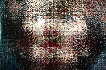 بریتانیای شکسته اثر هنرمند جو بلک با تصویری از مارگارت تاچر