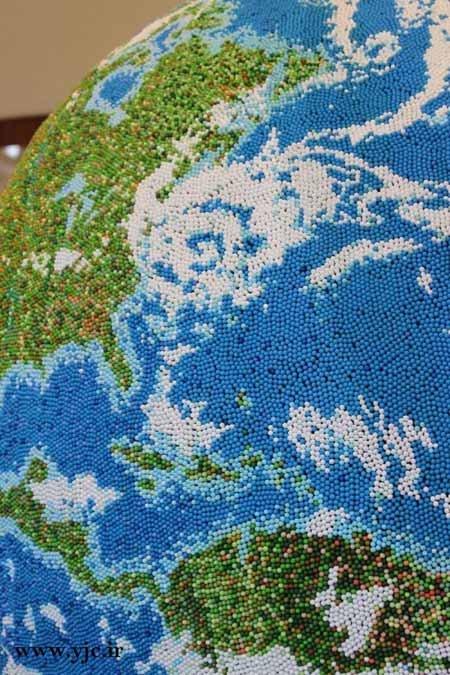 اخبار,اخبار گوناگون,ساخت کره زمین با چوب کبریت