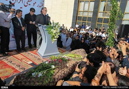 اخبار,اخبار فرهنگی ,تشییع پیکر محمدرضا لطفی