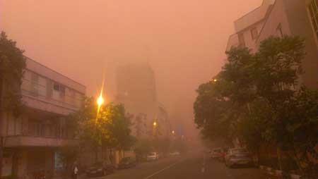 عکس طوفان تهران
