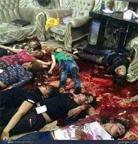 (+18) تصاویری از قتل عام داعش در یک مهمانی زنانه