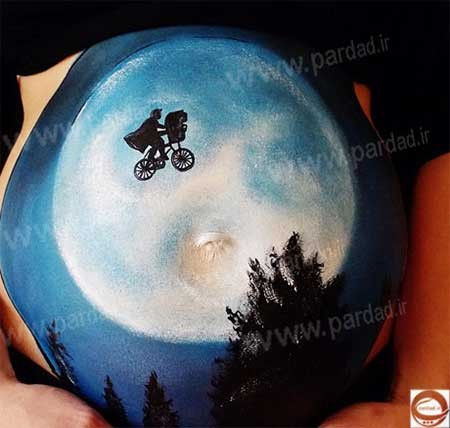 هنرمندی روی شکم زنان باردار