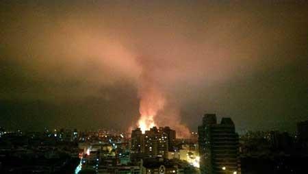 اخبار ,اخبار حوادث ,انفجار مرگبار لولههای گاز در تایوان,http://www.mihanfaraz.ir/post/985