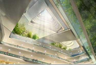 اخبار,اخبار علمی,آسمانخراش مارپیچ بدون پله طراحی شد