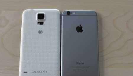 اخبار,اخبار تکنولوژی,مقایسه اپل آیفون 6 با سامسونگ گلکسی اس 5