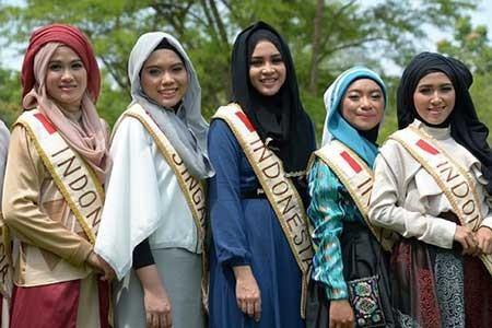 ملكه های زيبايي در اندونزي (+عکس)
