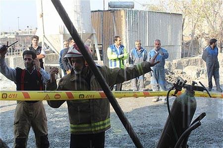 9309 11m671  مرگ دردناک کارگر در دستگاه بزرگ بتون ساز+ تصاویر