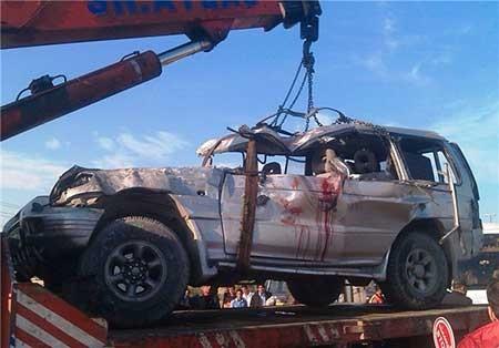 9310 11m1984 تصاویرحادثه رانندگی هولناک در قم