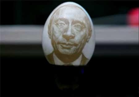 اخبار,اخبار گوناگون ,نقاشی در تخم مرغ