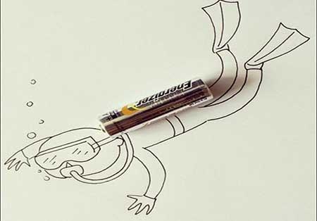 اخبار,اخبار گوناگون ,نقاشی با ابزارآلات بازیافتی