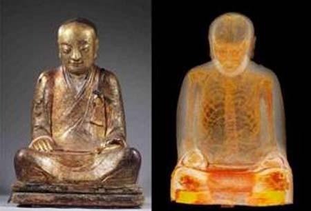 اخبار , اخبار علمی,کشف جسد مومیایی,جسد مومیایی داخل مجسمه