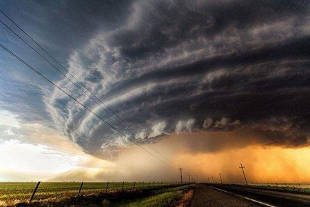 عکسهای جذاب,تصاویر جالب,ابرهای توفان زا
