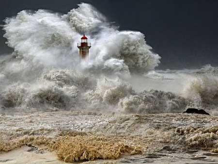 عکسهای جالب,تصاویر جالب,توفان ساحلی