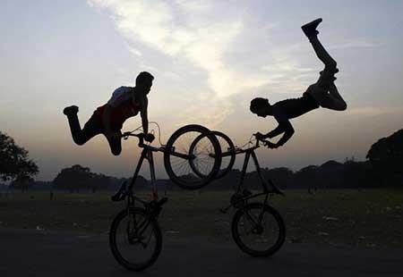 عکسهای جالب, دوچرخه سواران,تصاویر جالب
