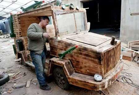 عکسهای جذاب,ماشین چوبی,تصاویر جالب