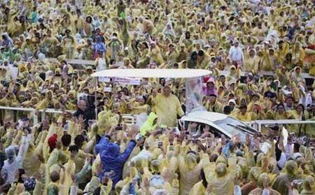 عکسهای جالب,یدار پاپ و مردم ,تصاویر جالب