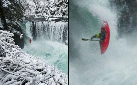 تصاویر دیدنی,آبشار یخ زده,تصاویر جالب