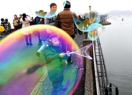 عکسهای جالب,حباب بازی,تصاویر دیدنی