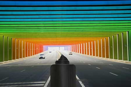 عکسهای جالب,تونل رنگین کمانی ,تصاویر دیدنی