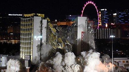 عکسهای جالب,تخریب یک هتل ,تصاویر دیدنی