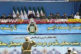 روحانی: ارتش امتحان بسیار خوبی از خود نشان داد / هیچ مشکلی در جهان نیست که پای میز مذاکره و منطق حل نش