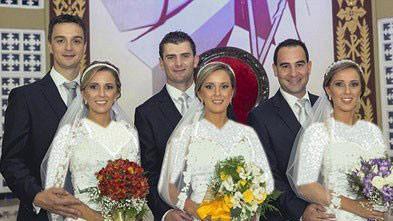 اخبار,اخبار گوناگون,ازدواج خواهران سه قلو