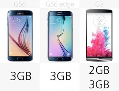 اخبار,اخبار تکنولوژی,مقایسه میان گوشی های Galaxy S6 ، S6 Edge و LG G3