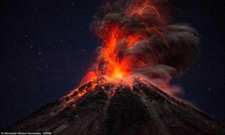 تصاویر مهیج گرفته شده از آتشفشان مکزیک