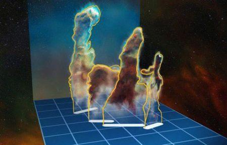 اولين تصویر سهبعدی از ستونهای آفرینش